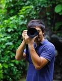 Azjatycki męski fotograf Zdjęcie Stock