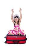 Azjatycki Mały Chiński dziewczyny obsiadanie na podłogowej i czytelniczej książce Fotografia Royalty Free