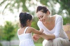 Azjatycki Mum & córka Obraz Stock