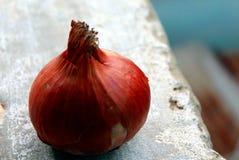 Azjatycki Organicznie Czerwonej cebuli tło Obrazy Stock
