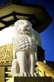 Azjatycki Pagodowy lew zdjęcia royalty free