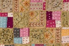 Azjatycki patchworku dywan w Rajasthan, India zdjęcia royalty free