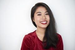 Azjatycki piękno na białym tle fotografia royalty free