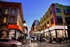 Azjatycki renaissance na Grant drodze, Chinatown, San Fransisco, Kalifornia, usa Obrazy Stock