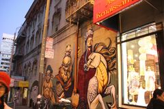 Azjatycki renaissance na Grant drodze, Chinatown, San Fransisco, Kalifornia, usa Zdjęcie Royalty Free