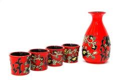 Azjatycki Ryżowy wino Pije set Fotografia Stock