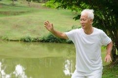 Azjatycki starszy męski trening Obrazy Royalty Free