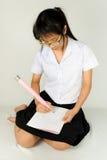 Azjatycki Tajlandzki Studencki studiowanie Zdjęcia Stock