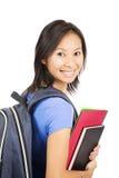 Azjatycki uczeń z plecakiem zdjęcie stock