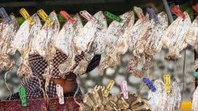 Azjatycki uliczny jedzenie zakończenie up - wysuszona kałamarnica - Obrazy Royalty Free