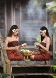Azjatyckich kobiet tajlandzki styl Obrazy Stock