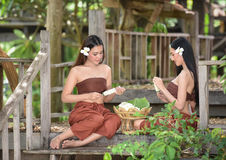 Azjatyckich kobiet tajlandzki styl Obraz Stock