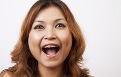 Azjatyckie kobiety są roześmiane. obraz stock