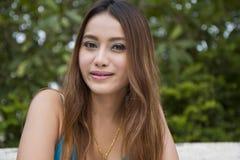 Azjatyckie kobiety są szczęśliwe. obrazy stock