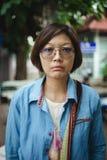 Azjatyckie kobiety w napięcie nastroju zdjęcia royalty free