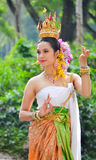 Azjatyckie kobiety w tradycyjnym kostiumu Zdjęcie Stock
