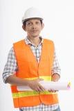 Azjatyckie inżyniera mienia papieru rolki Obraz Stock