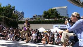 Azjatyckiego hip hop tancerza uliczna scena zdjęcie wideo