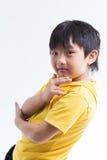 Azjatyckiej ślicznej chłopiec szczęśliwy uśmiech obraz royalty free