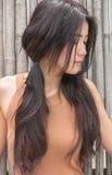 Azjatyckiej kobiety czuciowy smucenie Zdjęcie Royalty Free