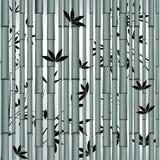 azjatykci bambusowy lasowy bezszwowy ilustracji