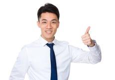 azjatykci biznesmena gesta kciuk azjatykci Obraz Stock