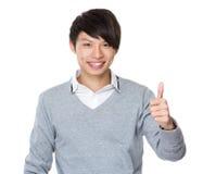 azjatykci biznesmena gesta kciuk azjatykci Obrazy Royalty Free