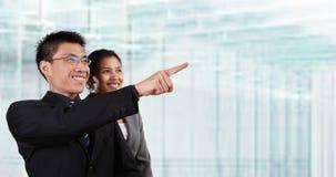 azjatykci biznesowi szczęśliwi ludzie dwa Zdjęcia Stock