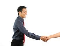 azjatykci biznesowy ręki mężczyzna chwianie Fotografia Royalty Free