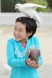azjatykci dziecka parka gołąb Fotografia Royalty Free