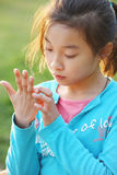 azjatykci dziecko Zdjęcia Royalty Free
