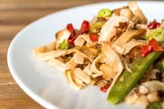 azjatykci jedzenie smażący kluski Obrazy Royalty Free
