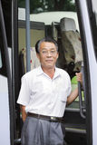 azjatykci kierowca autobusu Fotografia Stock