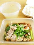 azjatykci kurczaka jedzenia ryż zdjęcia stock