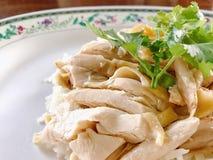 azjatykci kurczaka zbliżenia Hainan ryż styl Obrazy Stock
