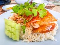 azjatykci kurczaka zbliżenia Hainan ryż styl Azjata stylowy Hainan Obrazy Royalty Free