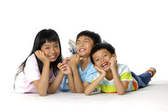azjatykci śliczne dzieci Obrazy Royalty Free