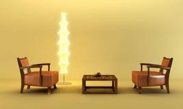 azjatykci lounge pokoju styl Zdjęcia Stock