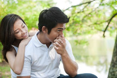 azjatykci pary ręki całowania styl życia Obraz Stock