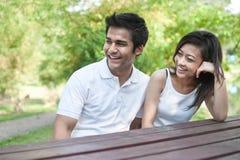 azjatykci pary styl życia stół Zdjęcie Stock