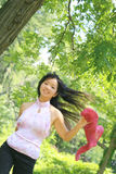 azjatykci piękna kobieta szalik Fotografia Royalty Free