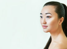 azjatykci piękni portreta kobiety potomstwa robi naturalny up Fotografia Royalty Free