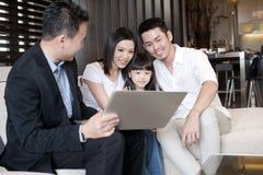 azjatykci rodzinny styl życia Fotografia Royalty Free