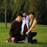 azjatykci rodzinny szczęśliwy fotografia stock