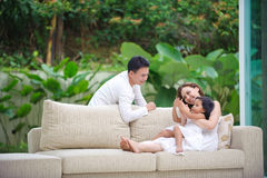 azjatykci rodzinny szczęśliwy Obraz Stock