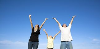 azjatykci rodzinny szczęśliwy Zdjęcie Stock