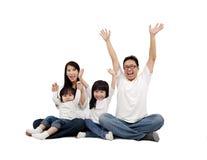 azjatykci rodzinny szczęśliwy Obraz Royalty Free