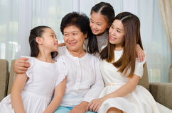 azjatykci rodzinny uroczy Obrazy Stock