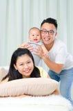 azjatykci rodzinny uroczy Obrazy Royalty Free
