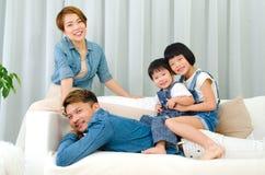 azjatykci rodzinny uroczy Obraz Royalty Free